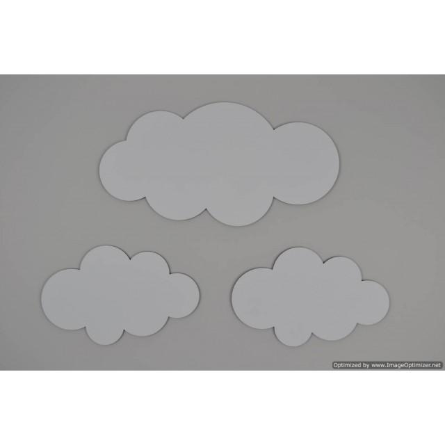 Wolkenset middel-geverfd