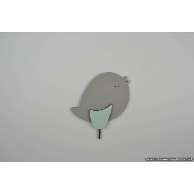 Staand vogeltje donkergrijs (L)