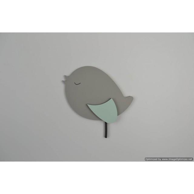 Staand vogeltje donkergrijs (R)