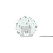Bord beer met sterren - kleur te kiezen (49x49cm)