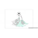 Beertje onder dekentje met voetbal (kleurtint te kiezen) (95x84cm)