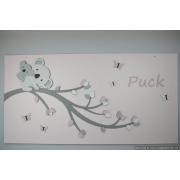 Tak met koala en baby op achterplaat - kleur te kiezen (116x60cm)
