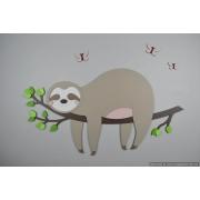 Tak met slapende luiaard (75x40cm)