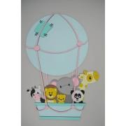 Diertjes in luchtballon (50x72cm)