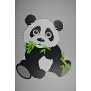 Pandabeer met bamboetak (48x60cm)